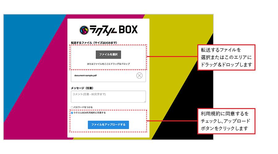 ラクスルBOX ステップ1