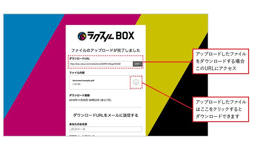 ラクスルBOX ステップ2