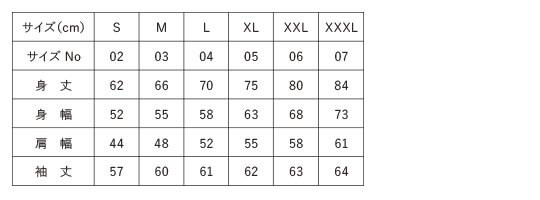 10.0オンス T/Cクルーネットスウェットのサイズチャート