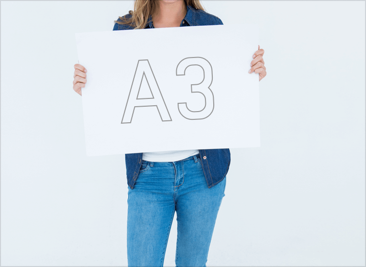情報量を多く掲載できるA3サイズ
