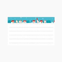 クリスマス用名刺テンプレート2364
