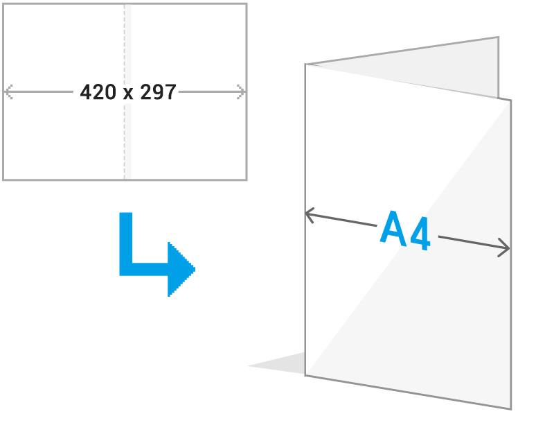 A4二つ折りイメージ