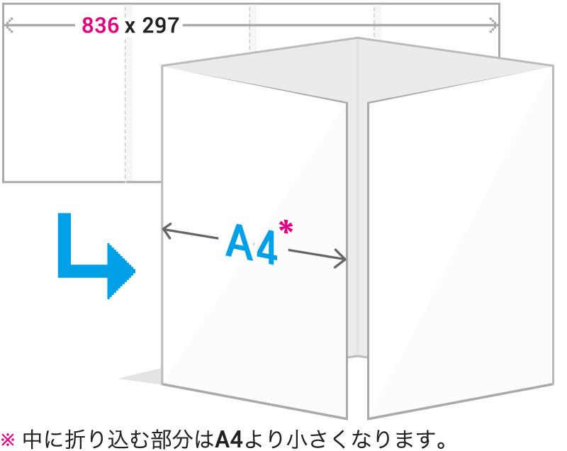A4観音折りイメージ