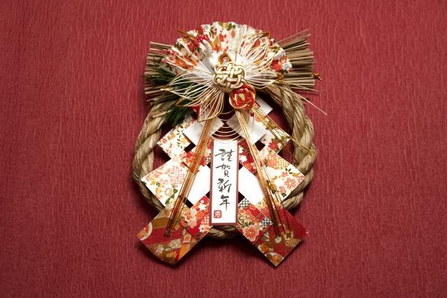 正月の玄関飾り
